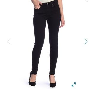 7 for all mankind the skinny jeans in black